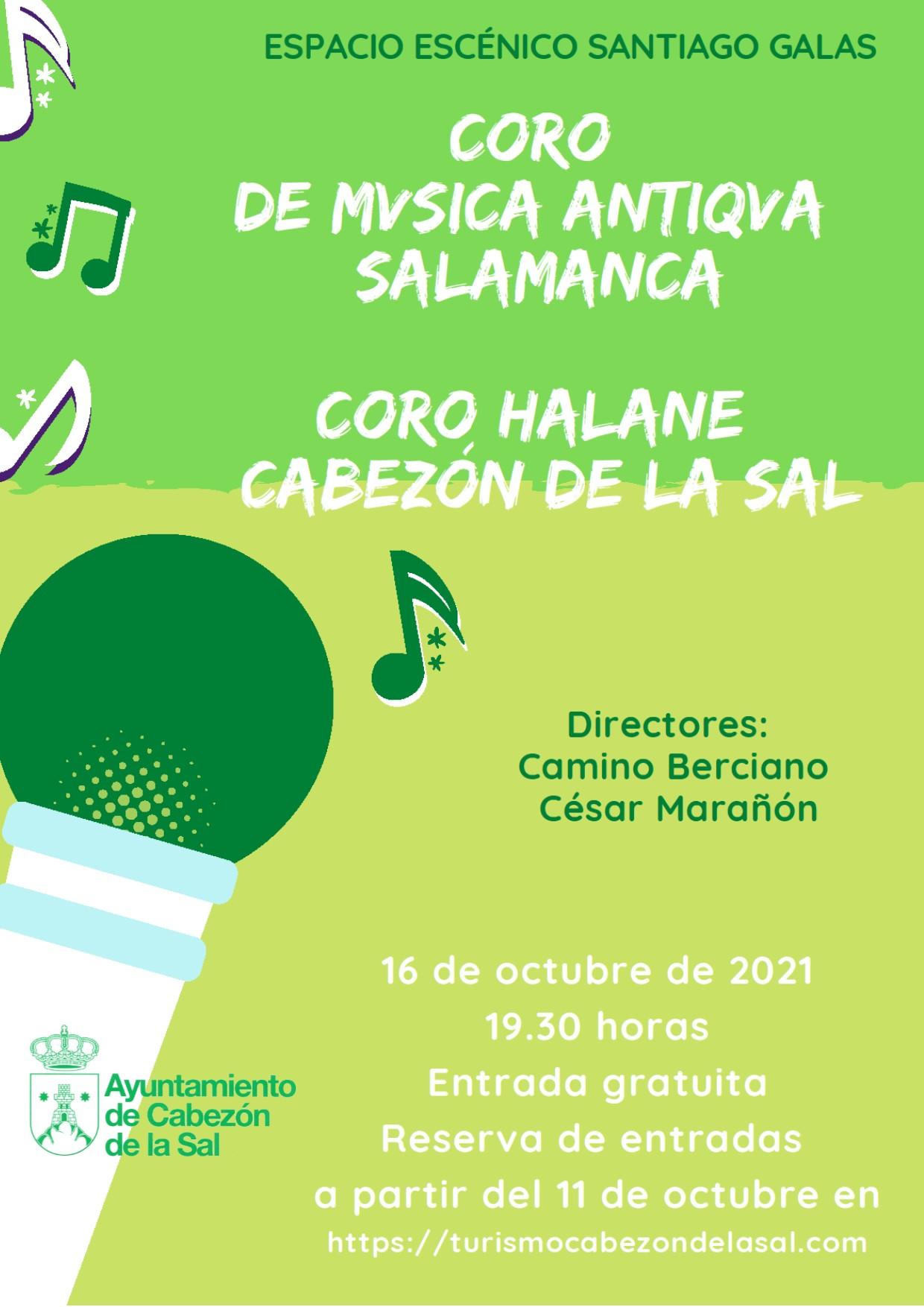 Coros en el Santiago Galas