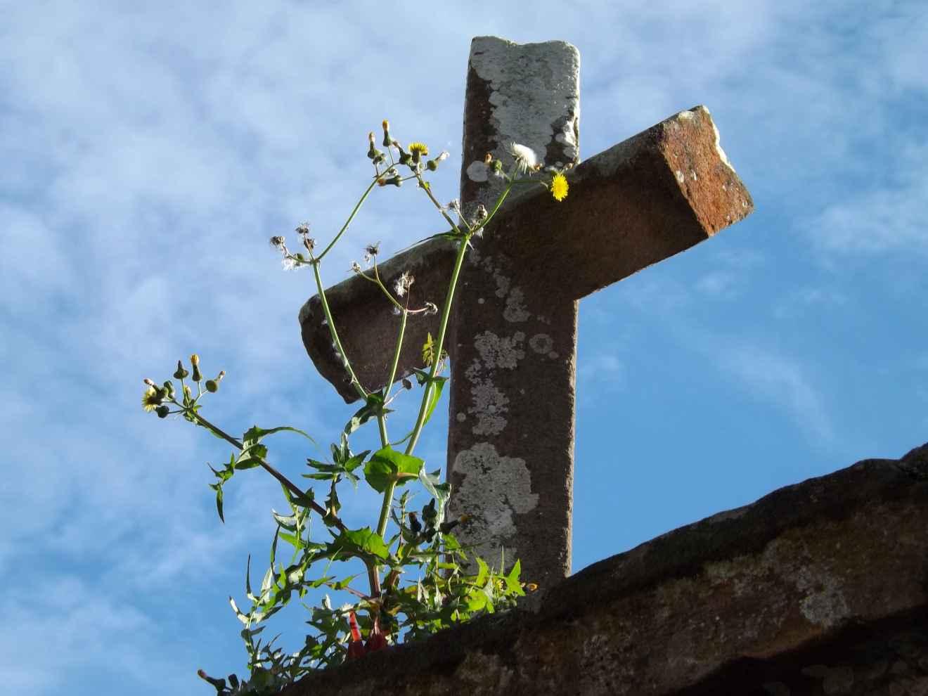 Cruz sobre portalada