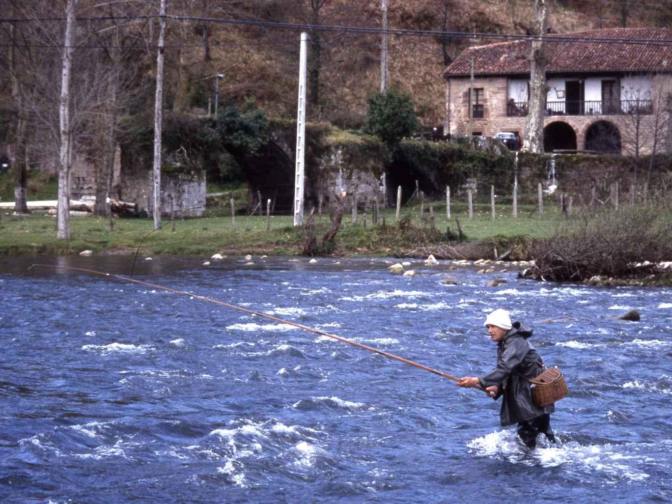 Pesca en el río Saja