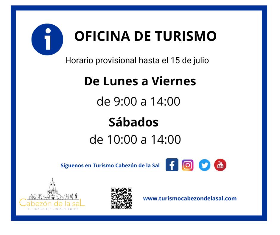 Horario de la Oficina de Turismo hasta el día 15 de julio
