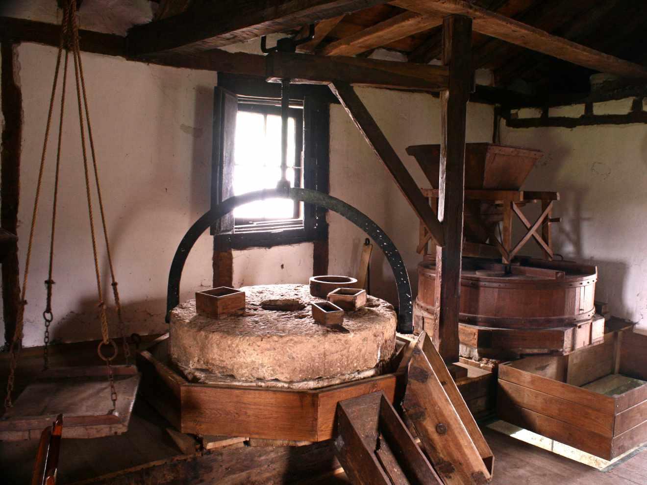 Interior del molino de Carrejo