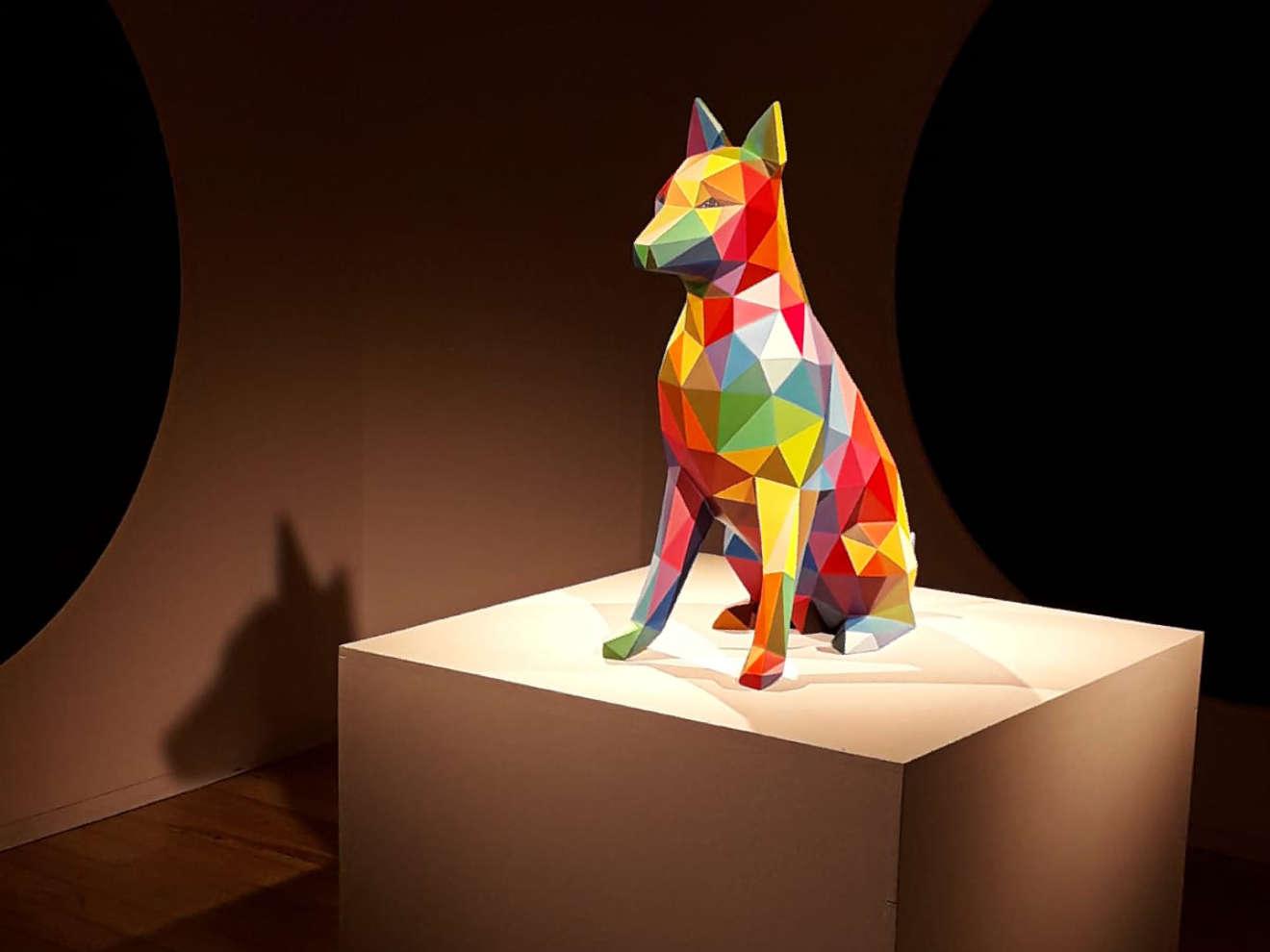 Lobo de Okuda en el museo de la Naturaleza