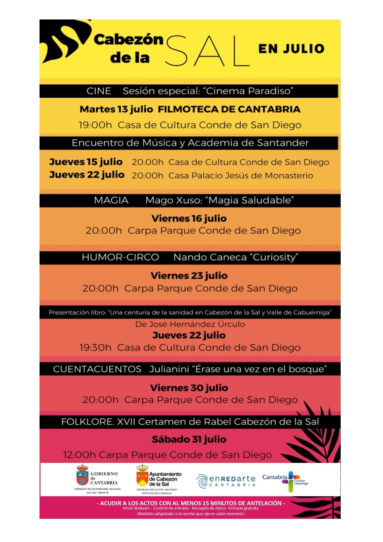 Agenda Cultural Julio 2021