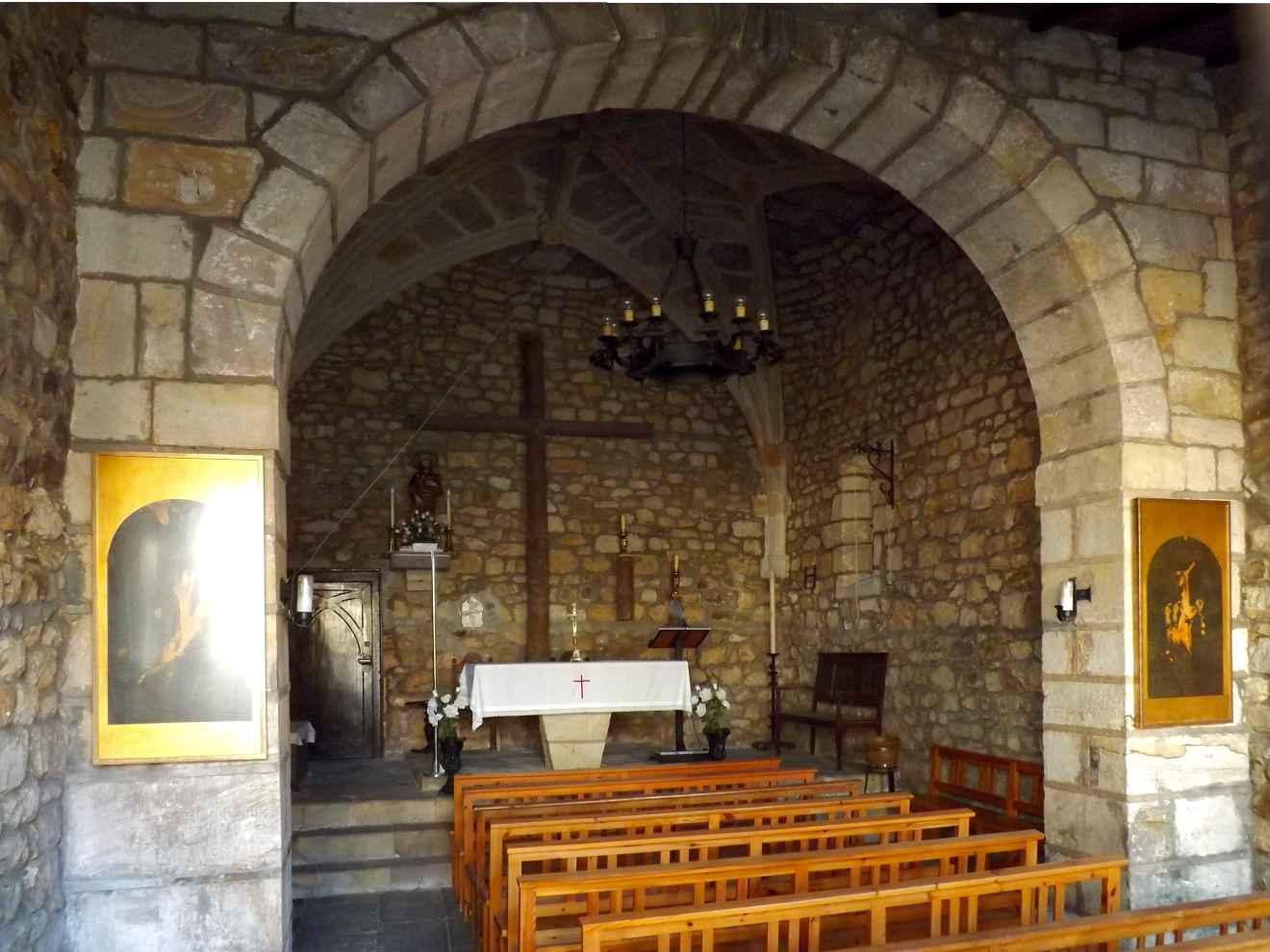 Interior del la capilla de San Roque en La Pesa