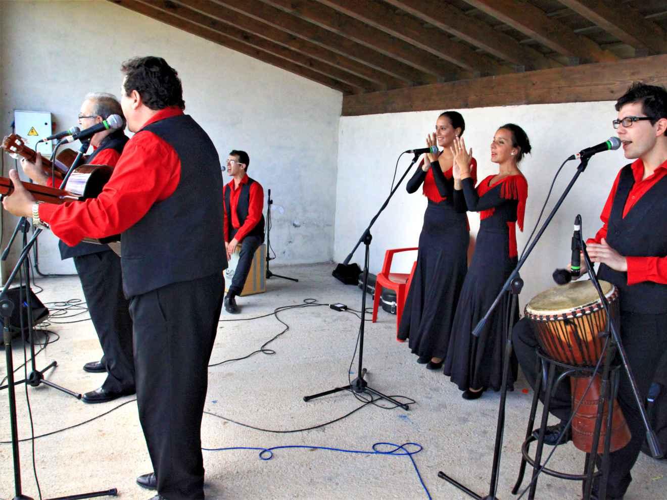 Orquesta en la fiesta de La Rueda