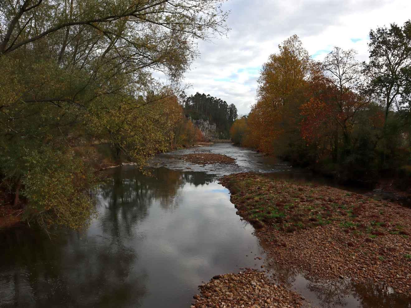 Río Saja a su paso por Casar