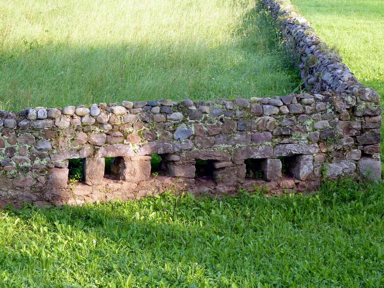 Muro con desagüe