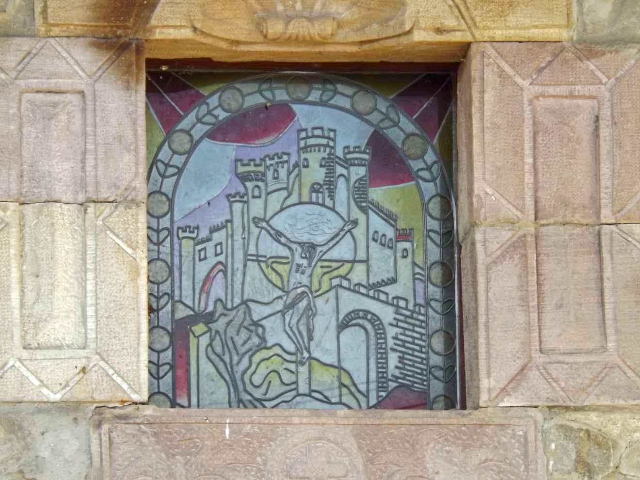 Vidriera de la capilla de La Castañera